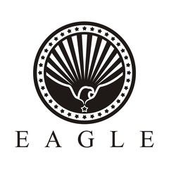 Eagle Logo, Eagle Wings Logo, Eagle Circle Logo was surrounded stars