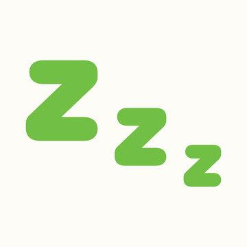 zzz sleeping night sign icon