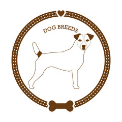 Dog breed sticker
