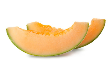melon's slice isolated on white background