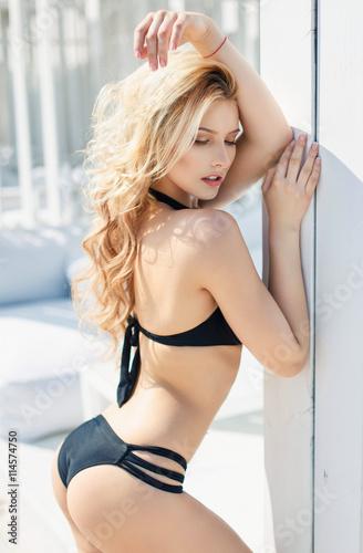 Hot blonde bikini girls