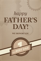 Certificate for being best dad,