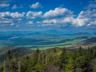 Panaroma of Adirondack Mountains