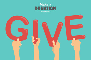 donation background. vector