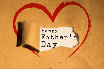 Composite image of word happy fathers day
