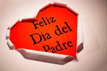 Composite image of word feliz dia del padre
