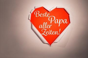 Composite image of word beste papa aller zeiten
