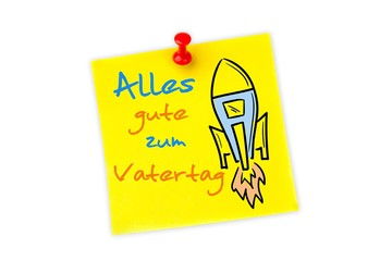 Composite image of word alles gute zum vatertag