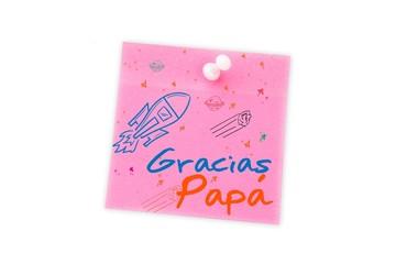 Composite image of word gracias papa