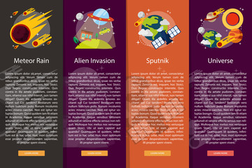 Space and Universe Vertical Banner Concept