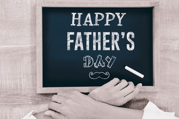 Composite image of fathers day greeting