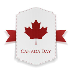 Canada Day national Banner with Ribbon