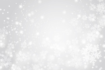 Snow crystal winter background