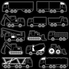 vector of shape heavy transportation