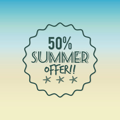 Summer Sale label