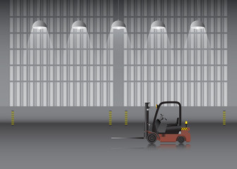 Warehouse and workshop background.
