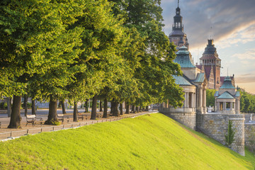 Obraz Szczecin,Wały Chrobrego(Tarasy Hakena) - fototapety do salonu