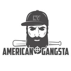emblem hipster vector