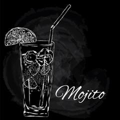 Vector illustration. Cooling drink. Cocktail.