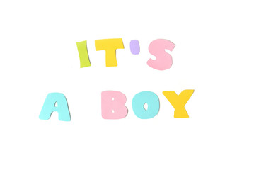 It's a boy text on white background - isolated