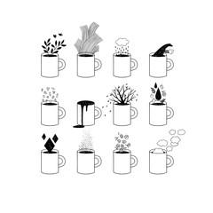 Tea dreams. Allegoric images of tea.