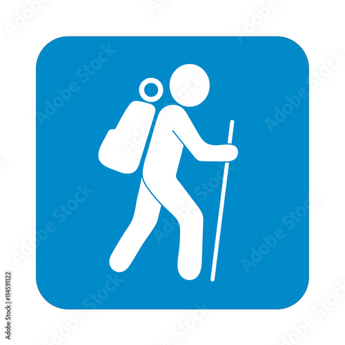quothiking icon illustration isolated vector sign symbol