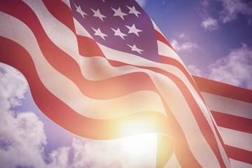 Composite image of focus on usa flag