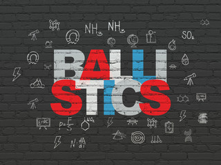 Science concept: Ballistics on wall background