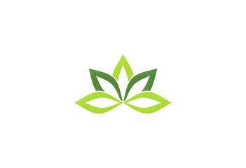 lotus flower green ecology logo