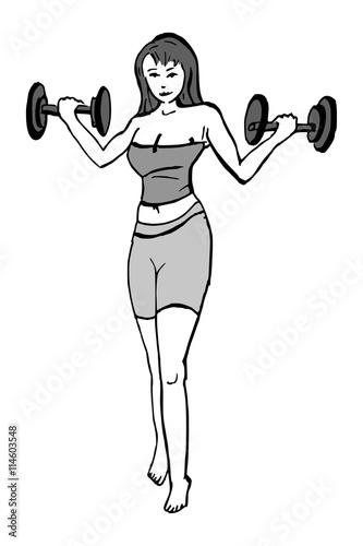 armspieren trainen vrouw
