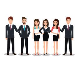 elegant businesspeople  isolated icon design, vector illustration  graphic