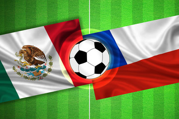 Mexico - Chile - Soccer field with ball