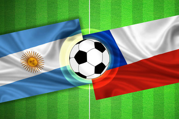 Argentina - Chile - Soccer field with ball