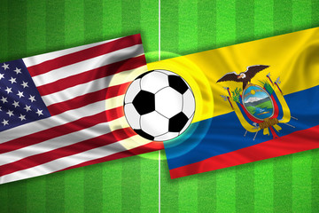 USA / America - Ecuador - Soccer field with ball