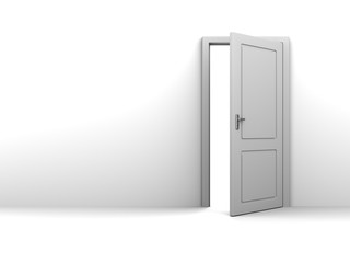 half open door background