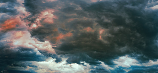 Panorama of a stormy sky Wall mural