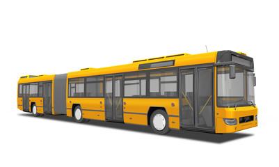 moderner Linienbus, Bus gelb, freigestellt