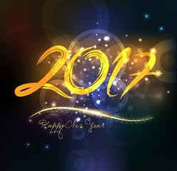 happy new year 2017 abstract background