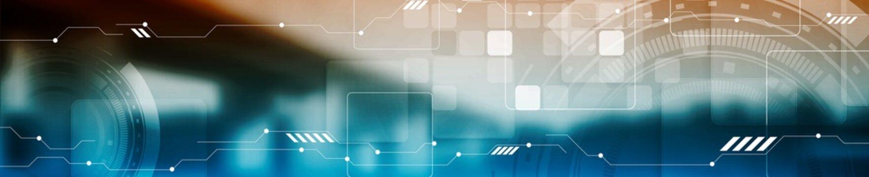 Abstract tech industrial web header banner