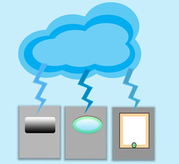 Cloud computing with choice of connection