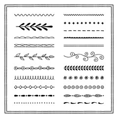 Collection of hand drawn brushes. Vector illustration.