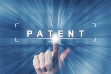 hand clicking on patent button