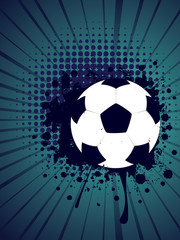 Soccer Ball on Rays Background