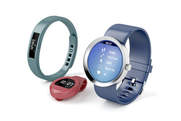 Different types of activity trackers