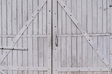 old wooden gate closeup in retro style