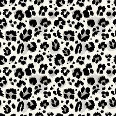 Seamless leopard pattern. Vector.