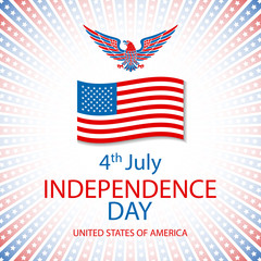 America Eagle Vector. American eagle background. easy to edit vector illustration of eagle with American flag for Independence day