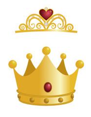 王冠とティアラ