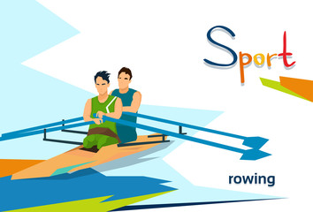 Disabled Athletes Rowing Sport Competition