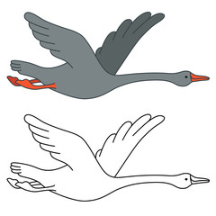 Soaring goose